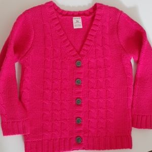 Carter's Cable Knit Fuchsia Pink Sweater